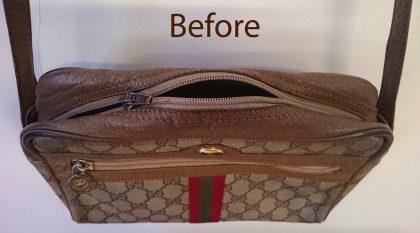 Gucci bag main zip repair